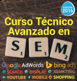 IEDGE - Curso Técnico Avanzado en SEM 2016