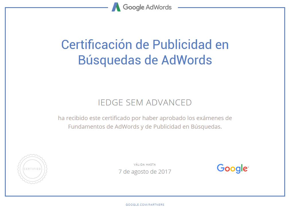 La nueva certificación en Google AdWords