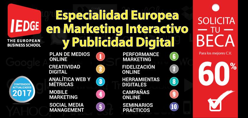Especialidad en Marketing Interactivo y Publicidad Digital