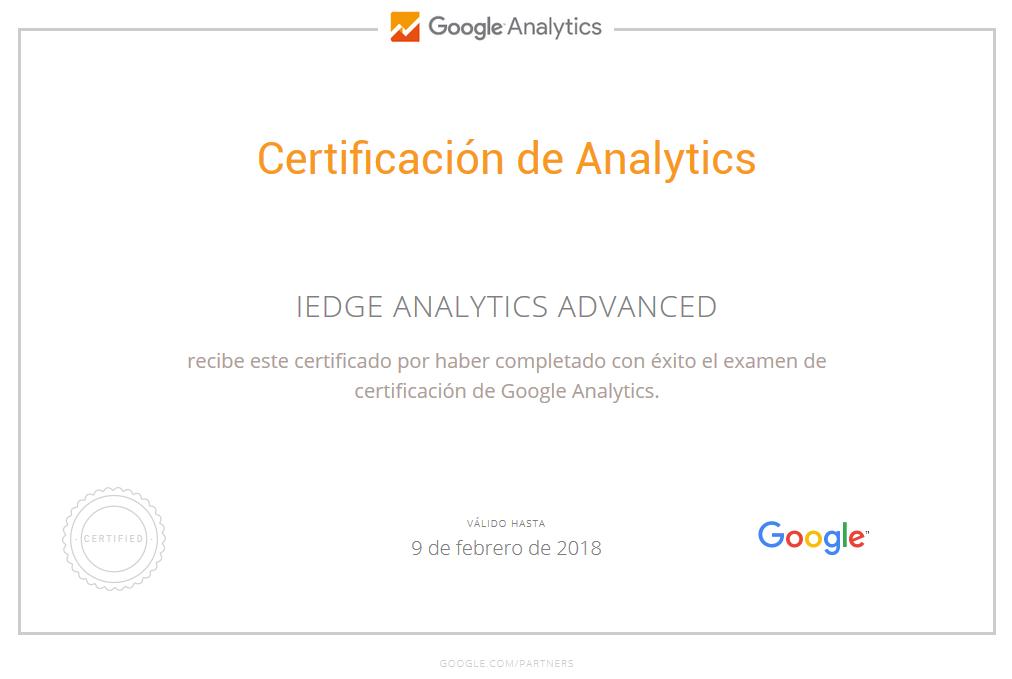 La Nueva Certificación en Google Analytics