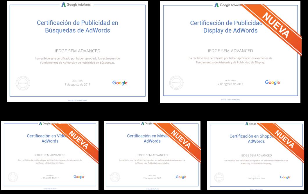 Las Nuevas Certificaciones en Google AdWords