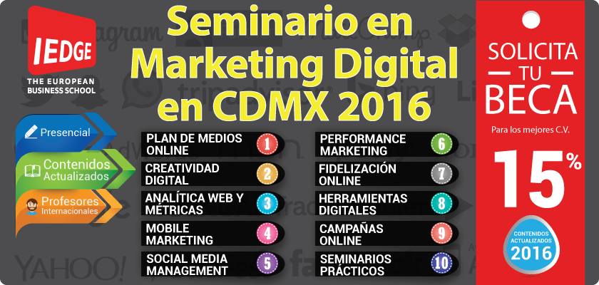 IEDGE - Seminario de Marketing Digital en la Ciudad de México