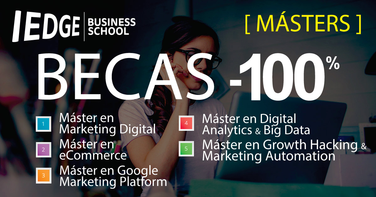 Becas -100% en los Másters de IEDGE Business School